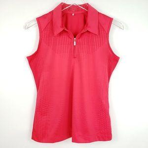 Nike Golf Fit Dry Zipper Collar Sleeveless Ruby S